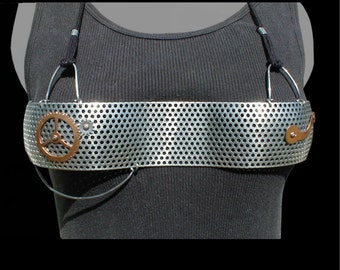 Perforated Metal Steampunk Bra style 85.205