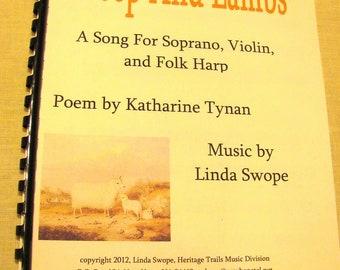 Sheep And Lambs, song for soprano, violin, harp, original music by Linda Swope, composer