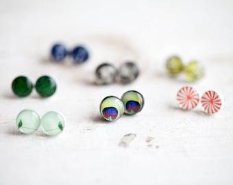 Stud earrings set - Set of 5 stud earrings - You pick the designs