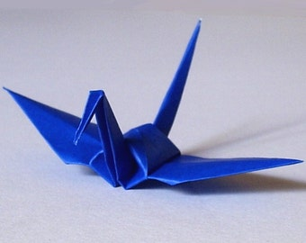 100 Small Origami Cranes Origami Paper Cranes - Made of 7.5cm 3 inches Japanese Paper - Blue