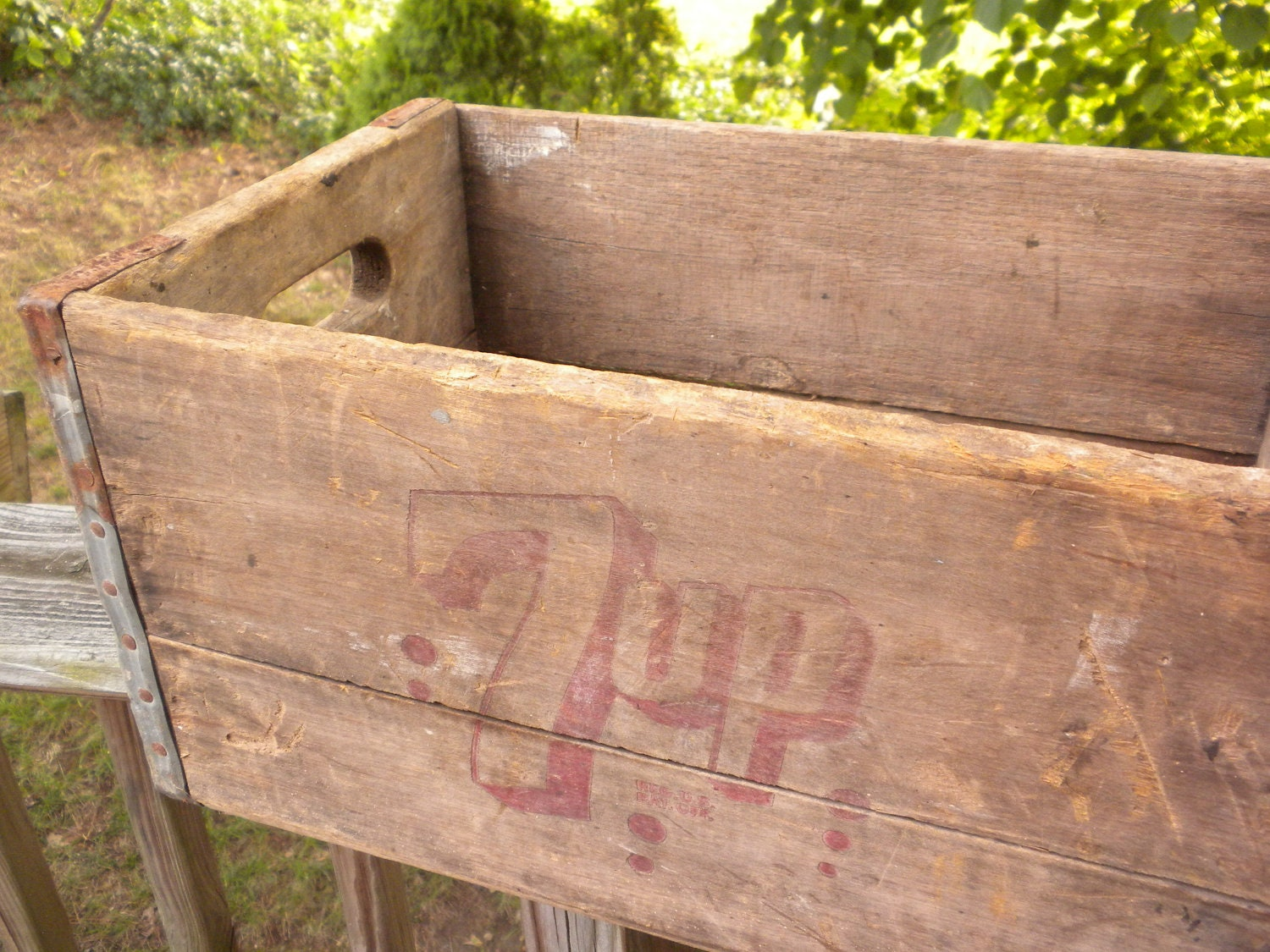 Vintage Seven Up Wooden Crate By Brixiana On Etsy