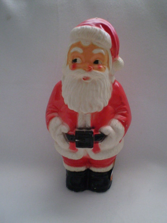 vintage christmas regal toy blowmold plastic santa bank. Black Bedroom Furniture Sets. Home Design Ideas