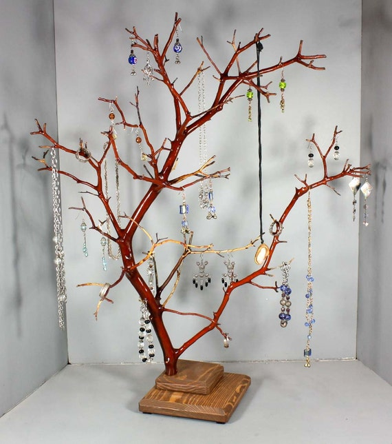 Jewelry tree tall manzanita jewelry tree 2023 for Tree branch jewelry holder