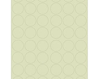 Blank 1.25 inch Round Labels - Sage Green (Printable Sheets)