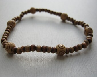 Simple Wooden Bead Bracelet