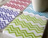Chevron Coasters - Bright Color Home Decor Collection - Set of 4