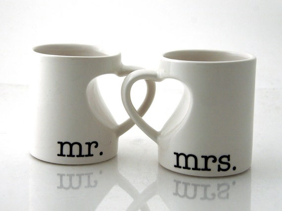 Mr & Mrs. mug set for couples bride and groom wedding