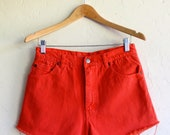 "The ""Orange Daisy Duke"" Cut-off Shorts"
