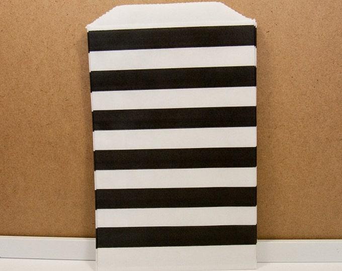 Horizontal Middy Bags - Black