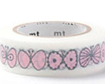 mt  Washi Masking Tape - Cherry Pink Butterfly - mina perhonen