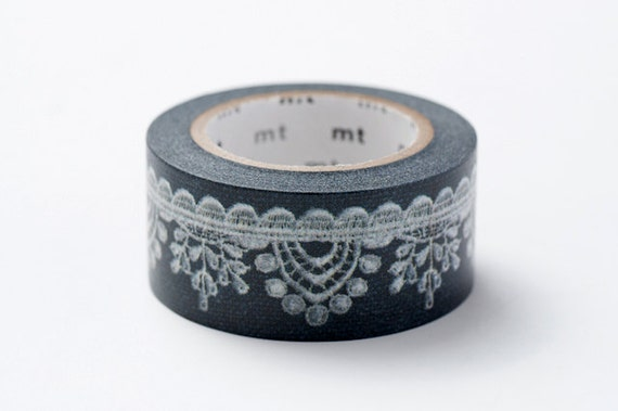 mt ex Washi Masking Tape - Black Lace
