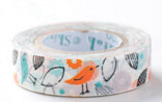 SALE - Shinzi Katoh Masking Tape - Spring Bird - 25% off