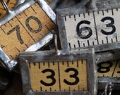charms made from a vintage ruler...    JEWELRY  POVT