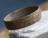 size 9, antique or vintage ring from an archaeological dig, find, dug out, collectibles, unique, gorgeous, coolvintage, metal patina, x 363