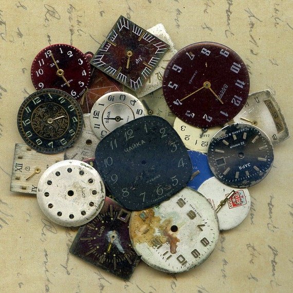 LOWEST PRICES on Etsy...20 vintage watch faces to use in your  mixed media JEWELRY or in any way you want 20-72