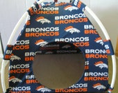 Large Handmade Denver Broncos Pup Tent Pet Bed For Cats / Dogs / Ferrets / Piggies Or Used For A Toy Box / Barbie Doll House