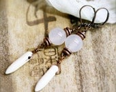 Courage and good luck horn earrings