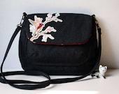 SALE! Lola black beautiful bird bag across body