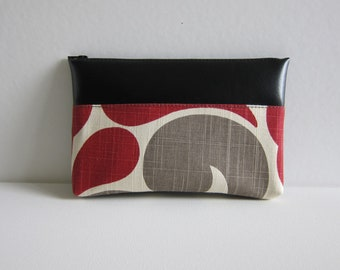 SALE - Large Zipper Pouch in the A Fine Wine Print - Ready to Ship