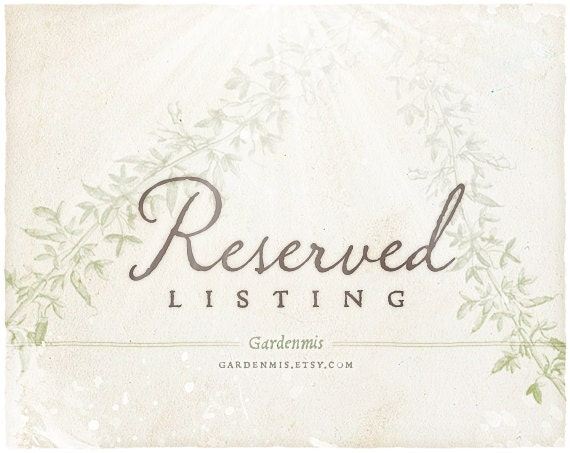 Reserved Listing for June