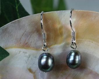 Freshwater Pearl Drop Earrings - Sterling Wires - Wedding