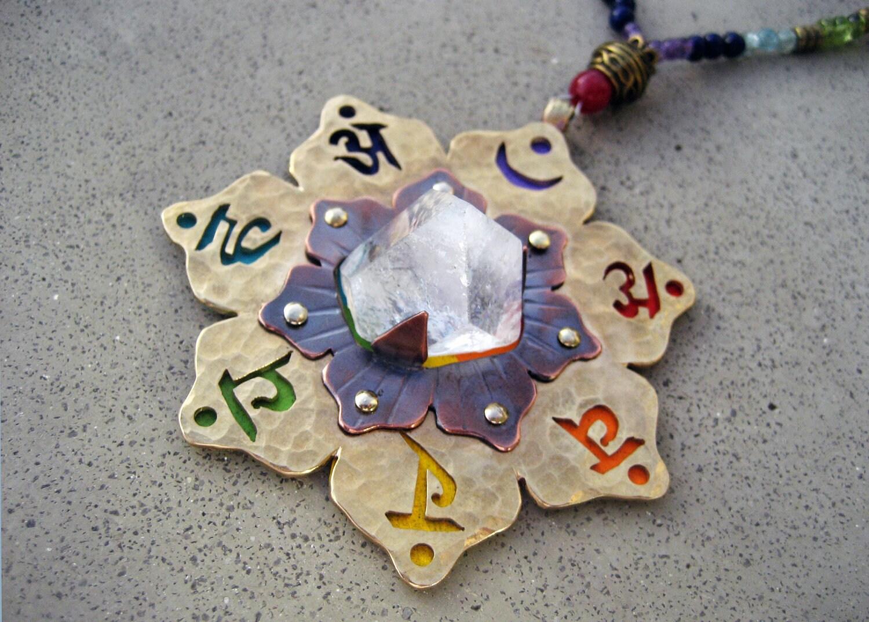 Chakra Necklace 7 Chakra Pendant Stone Chakra Symbols