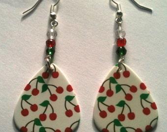 Cherrys - Guitar Pick Earrings