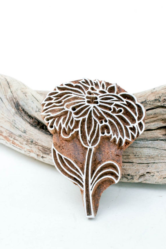 Items similar to hand carved stamp flower on etsy