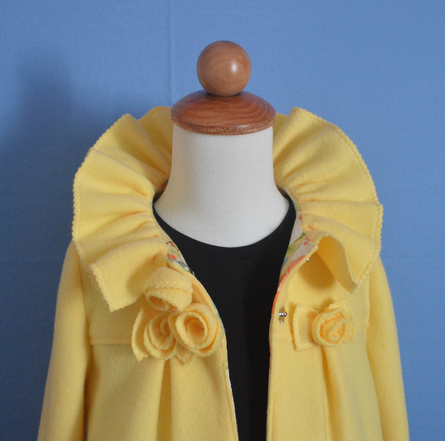 Ruffles &amp Roses Girls Fleece Coat Pattern by SundayGirlDesigns