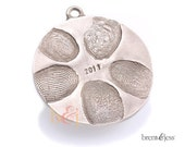 Bronze Ornament Custom Family Disc with up to 5 Fingerprints