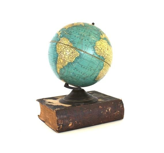 Learning the Terrain - Vintage Globe - Vintage 1930's Cram's 8 inch Terrestrial Globe