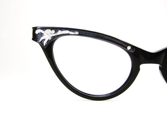 Vintage 50s Black Cat Eye Frame NOS