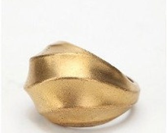 Gold Dome Swirl Ring