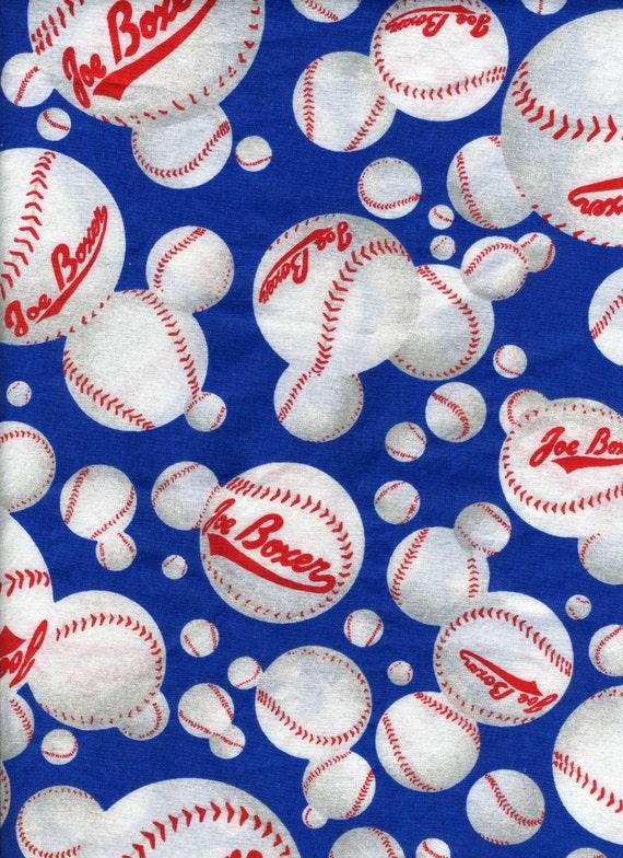 Joe Boxer Baseball Print Cotton Fabric