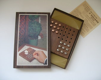 Mid Century Game  - The 3 Square Puzzler - 1950s Setko Puzzle - Hoyle Official games made in USA by Stancraft Products