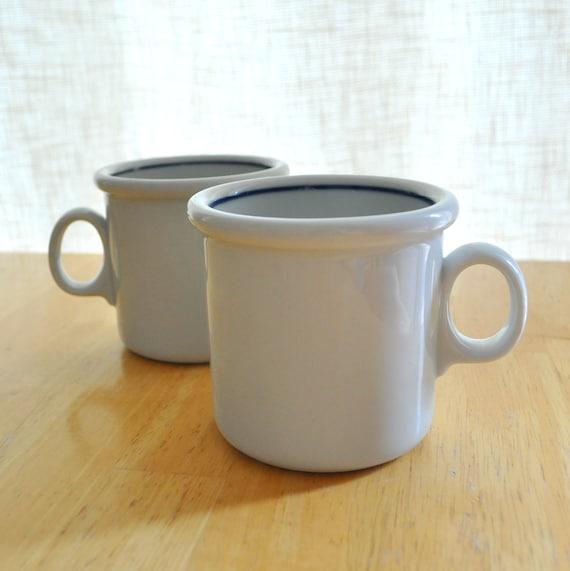 set of two early dansk denmark mugs