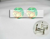 CUSTOM choice your own locations Map men Cufflinks locations wedding engagement groom birthday anniversary gift for him