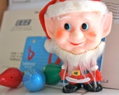Adorable Christmas Santa Elf Figurine . Nino Hira JAPAN . Mid Century Kitsch