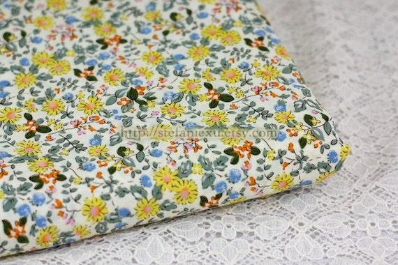 Love of Nature, Chic Summer Daisy Garden - Japanese Cotton Fabric (1/2 Yard)