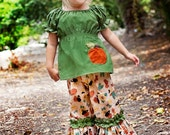 Great Pumpkin Boutique Fall Peasant Top and Ruffle Pants - Sizes 12mos - 6yr