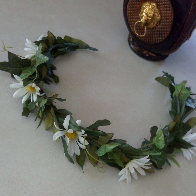 Greek God Leafy Man Wreath Headdress Rock Star Hair Accessory