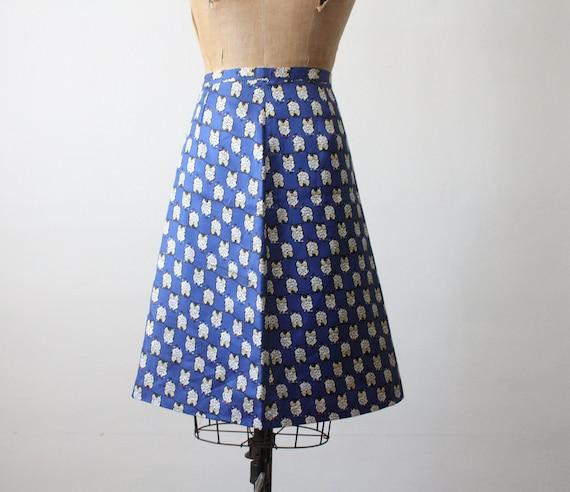 vintage 1970's owl print skirt