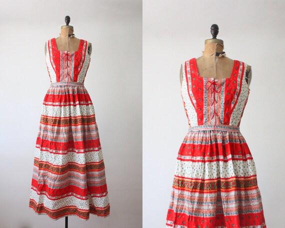 maxi dress - 1960's cotton maxi dress