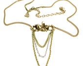 Quartz Crystal Necklace in Bronze