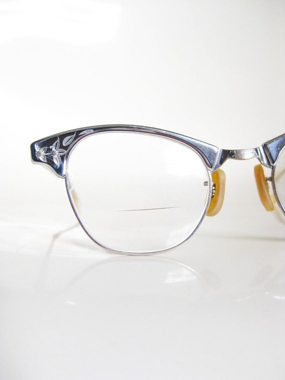vintage 1950s eyeglasses art craft cat eye glasses 50s