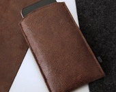BROWNIE for iPhone sleeve leather & felt iPhone case