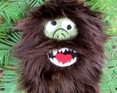 Bigfoot! Holiday Forest Fun... Fuzzy Felt Ornament