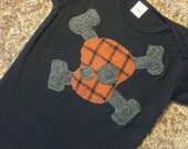 12-18 month Plaid Orange Skull Black T-shirt