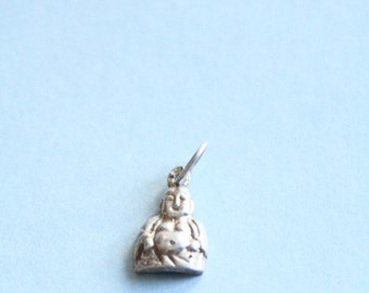 Vintage //// Sterling  Silver LUCKY Buddha Charm