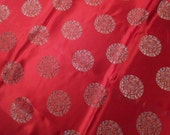 chinese embroidered red satin 92cm x 270cm